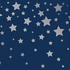 kids falling stars navy and metallic silver self adhesive removable borders and stripes