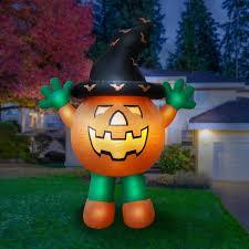 Outdoor Light Up Halloween Tree Details About Halloween Airblown Inflatable Decor Outdoor Pumpkin Man Lights Yard Garden Prop