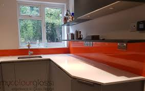 orange kitchen splashback