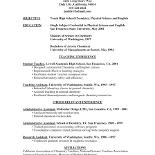 Teaching Resume Sample Teaching Resume Wwwfungramco 84