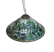 tiffany studios reion stained glass mosaic chandelier by paul crist in excellent condition for in
