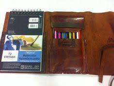 sketch book case made of vine leatherartist and by nadirabag