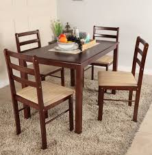eye catching woodness solid wood 4 seater dining set in india throughout terrific solid wood mid century modern dining table