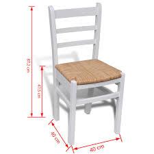 Huberxxl Huber Xxl Esszimmerstühle 2 Stk Holz Weiß