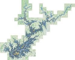 Lake Sidney Lanier Fishing Map Us_mm_ga_00322971