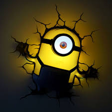 Minion Bedroom Wallpaper Minions 3d Led Wall Lights New Kids Bedroom Accessory 100