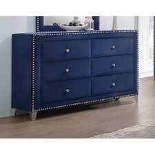 dark blue dresser. Modren Dark Malone 6 Drawer Double Dresser To Dark Blue N