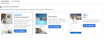 Ad Page Templates The New Facebook Canvas Ads Creating Full Screen Instant