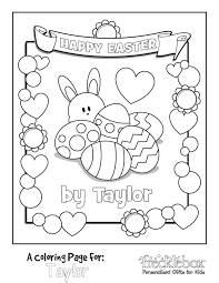 Customize Easter Coloring Page Spring Holiday Crafts Easter