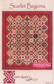 109 best Miss Rosie Quilts images on Pinterest   Country primitive ... & Scarlet Begonia Quilt Pattern Miss Rosie's Quilt Company Adamdwight.com