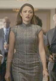 WornOnTV: Emily's grey plaid dress on Designated Survivor   Italia Ricci    Clothes and Wardrobe from TV