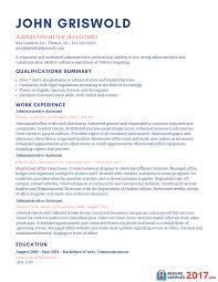 Administrative Assistant Resume Templates Saneme