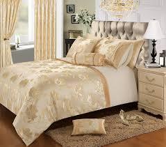 Home Bedding Store Premium Double Bed Luxury Jacquard Gold / Cream ...