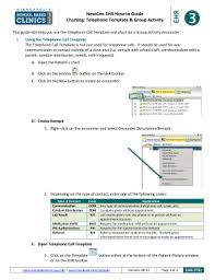 Nextgen Epm Telephone Call Template Fill Online Printable