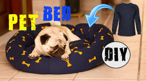 Diy Dog Bed Trahu Diy How To Make Pet Bed With Long Sleeve Tee No Sew