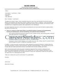 Sample Sales Cover Letter Edit Sample Retail Sales Manager Cover