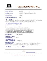 Teacher Aide Resume Examples Resume Sample For Teacher Aide Danayaus 20