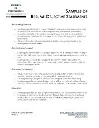 it resume objective. Strong Resume Objective Marketing In A Good utmostus