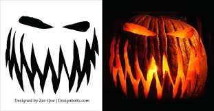 Halloween Carving Patterns Custom Free Scary Pumpkin Carving Patterns Stencils Carvings Halloween
