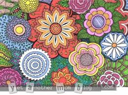 coloring page for s zentangle flowers first small colored more coloring pages for s zentangle flowers