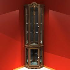Corner Cabinet Shelving Unit Shelves Sensational Costco Curio Cabinet Lighted Whalen Storage 53