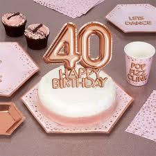 Glitz Glamour 40th Birthday Cake Topper