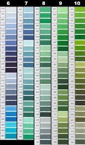 Dmc Embroidery Thread Color Chart Dmc Perle Threads Color Chart Nakpunar