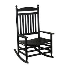 bradley black jumbo slat wood outdoor patio rocking chair