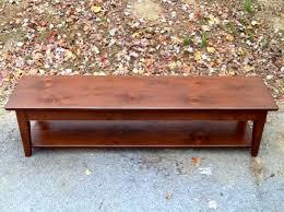 bench with shelf. Pine Shaker Bench With Shelf