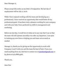 Management Resignation Letter 17 Best Resignation Letter Images Professional Resignation Letter