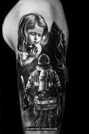 Plotnikovasketch Tattoo Fireman пожарный татуировка идеи тату эскизы
