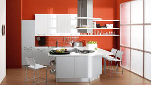modern kitchen colors 2016. New Kitchen Colors Luxury Modern Cabinet Trends With Orange Walls Colorful Kitchens 2016 D
