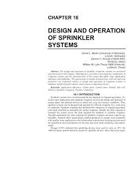 Sprinkler Nozzle Design Pdf Design And Operation Of Sprinkler Systems