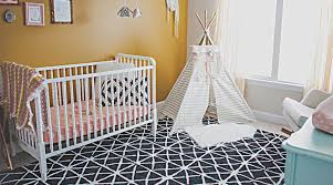 baby room for girl. Baby Nursery Room With White Crib And Tee-pee. For Girl