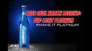 Bud Light Platinum Font Bud Light Platinum Beer Geek Nation Craft Beer Reviews