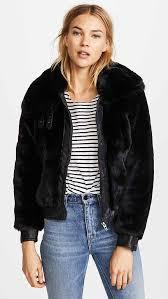 blank denim black noise coat black faux fur coats jackets holiday party
