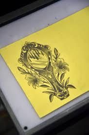 hand mirror sketch. Hand Mirror Tattoo Sketch