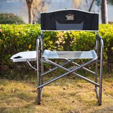 timberridge aluminum portable director x27 s folding chair with side table