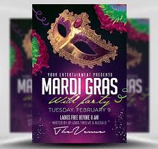 Mardi Gras Party Flyer Template 2 Flyerheroes