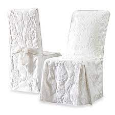 Shop for sure fit chair cover at bed bath & beyond. Sure Fit Matelasse Damask Long Dining Chair Cover Bed Bath Beyond