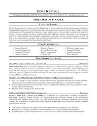 Performance Profile Resumes Finance Manager Resume 13 Simple Direct Executive Profile And Core