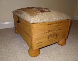 wine crate furniture. wine crate footstool furniture t