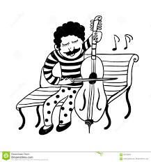 Il Disegno Di Un Musicista Della Via In Pantaloni Divertenti In Pois