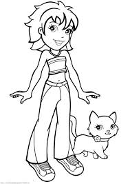 Small Picture Polly Pocket Character With Pets Coloring Pages Polly Pocket