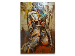the temptress metal wall hanging click to expand on sensual metal wall art with female nude metal wall art welded female wall d cor