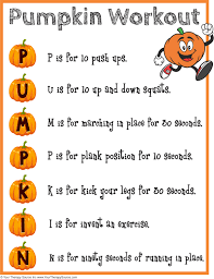 pumpkin workout and brain break your therapy source pumpkin workout and brain break
