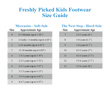 Freshly Picked Moccasins Size Chart Freshly Picked Soft Sole Moccasins Infant Toddler Zappos Com