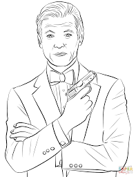 Roger Moore As James Bond Coloring Page Free Printable Coloring Pages