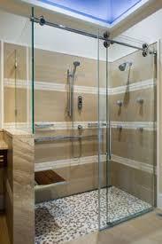 contemporary sliding shower doors. kinetik rolling door shower enclosure w/ moen vertical spa asian bathroom contemporary sliding doors