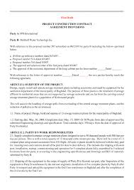 Construction Contract Format Construction Contract Template Word Oloschurchtp 16